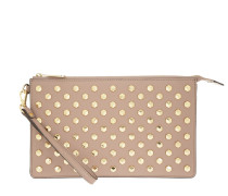 Daniela Facetted Studs LG Wristlet Fawn Clutch