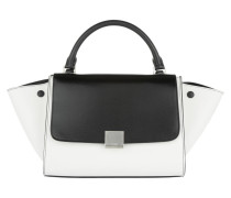 Trapeze Satchel Bag Small Black/White weiß