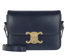 Umhängetasche Teen Triomphe Bag Shiny Calfskin Dark Blue
