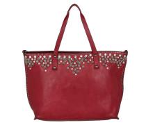Strass & Rivetts Shopping Bag Grande Fuxia Umhängetasche