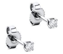 Ohrringe 14KT 0.12ct Diamond Stud Solitaire Earring