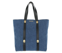 Shopping Bag Denim Blue Umhängetasche