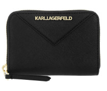 Klassik Small Zip Wallet Black Portemonnaie