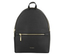 Rucksack Coorra Soft Leather Double Zip Backpack Black