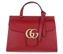 Tasche - Marmont GG Leather Tophandle Red