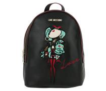 Backpack PU Patch Nero Rucksack