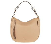 Hobo Bag Pebble Sutton Leather Beige
