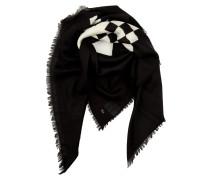 Schal - Wool Scarf Black/Cream