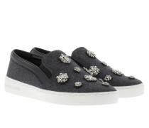 Keaton Slip On Flannel Charcoal Sneakerss