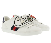Ace Sneakers With Removable Patches White/Blue/Red Sneakers