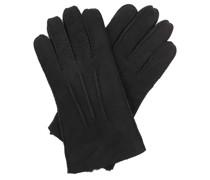 Handschuhe Men Contrast Sheepskin Tech Gloves Black