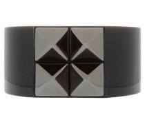 Schmuck - Rockstud Bracelet Large Brass Black