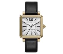 Vic Strap Watch Gold-Tone Black Armbanduhr