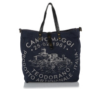 Shopping Picc. C/Stampa Blue Stampa Beige