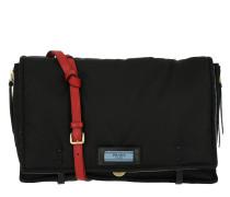 Cartella Satchel Bag Nylon Nero/Lacca