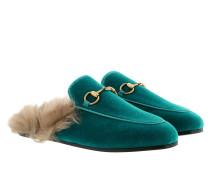Princetown Velvet Slipper Cyan Schuhe