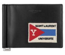 Université Patch Bil Clipp Wallet Black