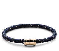 Armband Mini Single Rope Casing Bracelet Plated M Navy/Gold