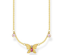 Halskette Necklace Butterfly Gold