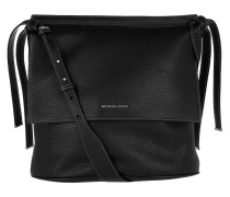Chambers LG Shoulder Flap Black Hobo Bag
