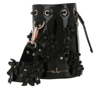 Kasper Flower Bucket Bag Lacquer Black Beuteltasche
