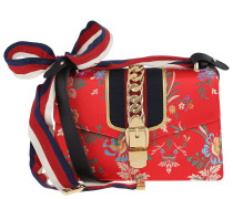 Sylvie Jacquard Bag Red Satchel