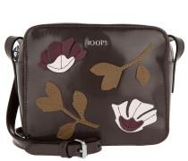 Cloe Shoulder Bag Small Polish Fiore Dark Grey Umhängetasche braun