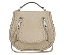 Small Vanity Saddle Bag Suede Sandstone Umhängetasche