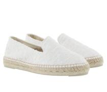 Paris Tweed Espadrilles White