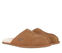 Schuhe Men Scuff Slipper Chestnut