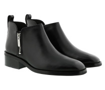 Boots Alexa Leather Ankle Black