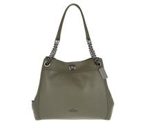 Edie Turnlock Shoulder Bag Green Tote grün