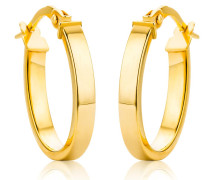Ohrringe 14KT Oval Creole Earring Yellow Gold