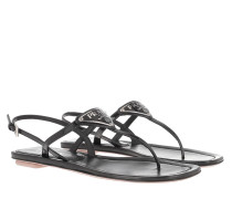 Sandalen Thong Sandal Patent Leather Black