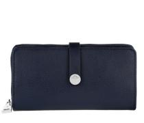 Nela Bottone Grano Purse LH14O Dark Blue Portemonnaie