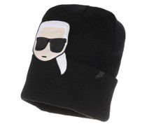 Caps K/Ikonik Embroidery Beanie Black