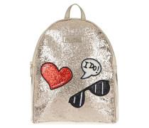 Backpack Glitters Metallic Oro Rucksack