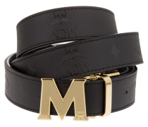 Reversible Belt 24K Gold Buckle Onesize Black