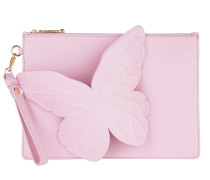 Flossy Butterfly Pouchette Baby Pink Clutch