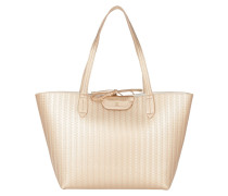 Reversible Shopping Bag Shiny Gold/White Umhängetasche gold