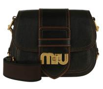 Miu Logo Madras Umhängetasche Nero