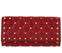 Rockstud Spike Continental Wallet Red