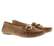 Loafers & Slippers - Selena Moccasin Suede Brown