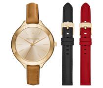 Armbanduhr - Ladies Gift Set Slim Runway Watch Gold