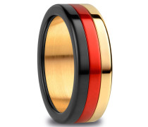 Ring Arctic Symphony Black Red Gold