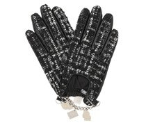 Handschuhe Soho Charm Tweed Glove Black