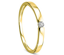 Ring 0.05ct Diamond Solitaire 14KT Yellow Gold