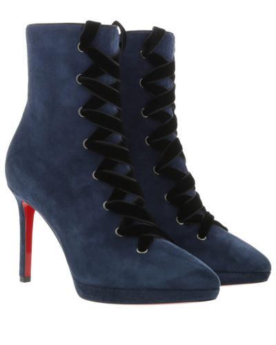 Boots Circus Nana 100 Ankle Boots Veau Velours Marine/Black blau