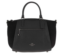 Tote Mixed Leather Elise Satchel Black