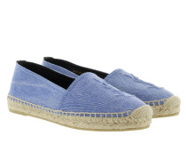 Denim Stone Wash Espadrilles Ultramarine